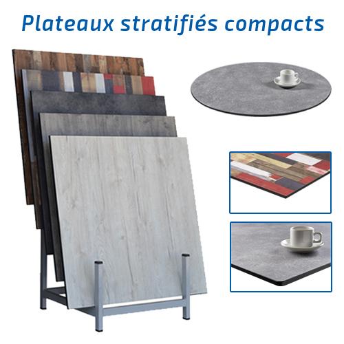 Plateaux de tables compacts